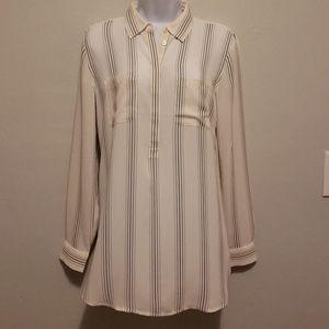 LOFT long sleeve collared blouse